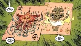 Kartu demonic yang dipakai Mephisto. Sumber : Marvel Unlimited