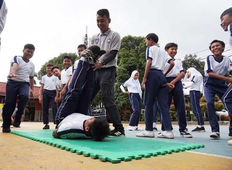 Guru Olahraga sedang Ujian Praktek (Dok.Pribadi)