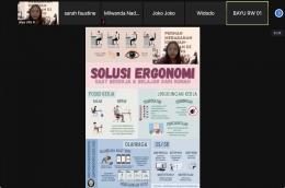 Edukasi dan Diskusi dengan Warga Melalui Zoom (Dokpri)