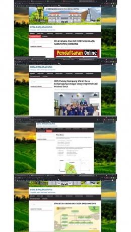 Tampilan terbaru dari website Desa Banjaragung (dokpri)