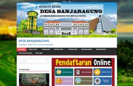 Website Resmi Desa Banjaragung (dokpri)