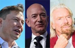 Richard Branson, Elon Musk, dan Jeff Bezos. | Businessinsider.com