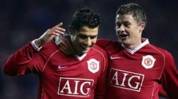 Ole Gunnar sewaktu masih menjadi pemain Manchester United. Suara.com
