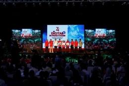 Acara peresmian siaran digital ini berlangsung di Gor Dwikora, Kecamatan Nunukan, Kabupaten Nunukan, Kalimantan Utara, Sabtu 31 Agustus 2019. TV Digital hadir di perbatasan Indonesia-Malaysia (Sumber: kominfo.id)