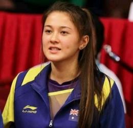 Lesung pipi milik Gronya Somerville (pebulu tangkis putri Australia) mencuri hati fansnya. Badminton Wonder Fans (BWF).