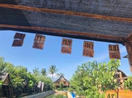 Pengenalan aksara Jawa  (Foto oleh: KKN UM Pandanmulyo 2021)