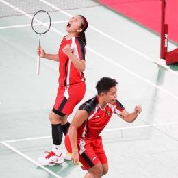Gresya dan Apri di Laga Pertama Olimpiade Tokyo (sumber: bwf.official)