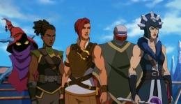 Di sini karakter utamanya adalah Teela setelah He-Man berkorban   sumber: pluggedin.com