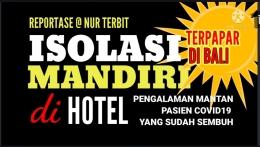 Thumbnail konten video di channel YouTube Nur Terbit saat anak diisolasi mandiri di hotel (foto Nur Terbit)