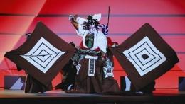 Pertunjukan Kabuki oleh Ichikawa Ebizou (Getty Images/Frank Fife)