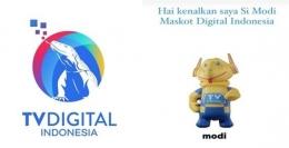 Logo dan maskot TV Digital Indonesia (Sumber: pikiran-rakyat.com)