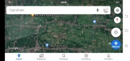 Tangkapan layar, lokasi sungai yang digunakan oleh masyarakat kedua desa (dokpri)
