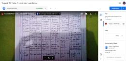Contoh tampilan unggah tugas siswa di fitur Classroom. Sumber: screenshot/classroom.google.com
