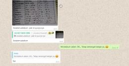 Contoh stay humble dengan kalimat konstruktif dan sisipan ikon smile. Sumber: screenshot WA pribadi.