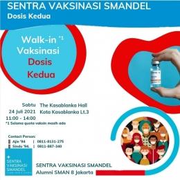 Sentra Vaksinasi Smandel dosis kedua, 24 Juli 2021 (Shakti)
