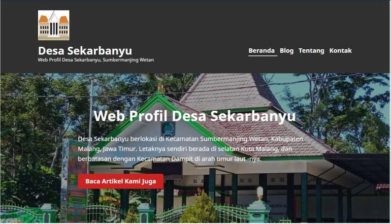web profil desa sekarbanyu