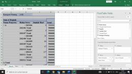 Ilustrasi pengolahan data menggunakan PivotTable (olahan pribadi)