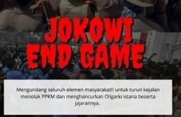 Bagian dari poster Jokowi End Game /Twitter @OniMeniq74./ (Foto: galajabar.pikiran-rakyat.com)