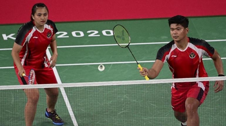 Praveen/Melati berjuang meraih medali Olimpiade Tokyo 2020 (Foto AFP/Pedro Pardo).