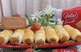 Ilustrasi kue Pastry Vla Lotus Biscoff siap dihidangkan | Dokpri