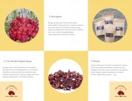 Cara pengolahan teh rosella (2)/dokpri