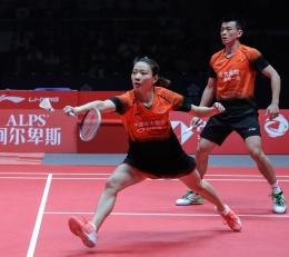 Pasangan China, Zheng Siwei/Huang Yaqiong yang menjadi lawan Praveen/Melati diperempat final (Foto BWFbadminton.com).