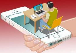 Ilustrasi belajar online.sumber gambar: (news.detik.com)