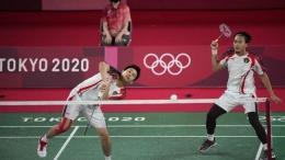 Aksi The Dadies memupus impian pasangan Korea Selatan menuju 8 besar Olympiade Tokyo 2020 (AP/ cnnindonesia.com)