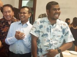 Bersama pastor Dari kiri kekanan Effendi,pastor Sam Kono,pastor Timotyus (dok pribadi)