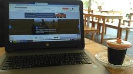 Sebagai writerpreneur, saya merasakan jaringan internet di rumah jadi kebutuhan utama. Daripada mengungsi menulis di warkop/Foto pribadi