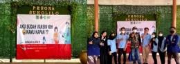 Mahasiswa KKN UM bersama perangkat Desa terlihat antusias menjalankan program vaksin/dokpri