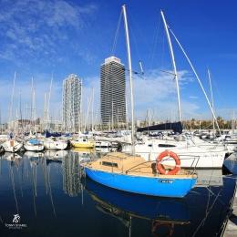 Port Olympic- Barcelona. Sumber: Dokumentasi pribadi