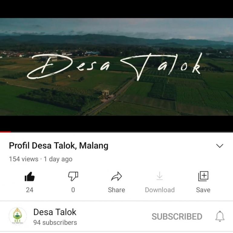 Channel Youtube Desa Talok/dokpr