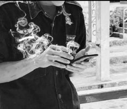 Ilustrasi merokok, Jangan ditiru!!!/dokpri