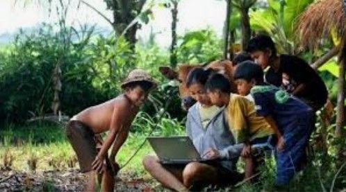 Ilustrasi tentang lagu rindu anak-anak di wilayah pedesaan di Flores, NTT,