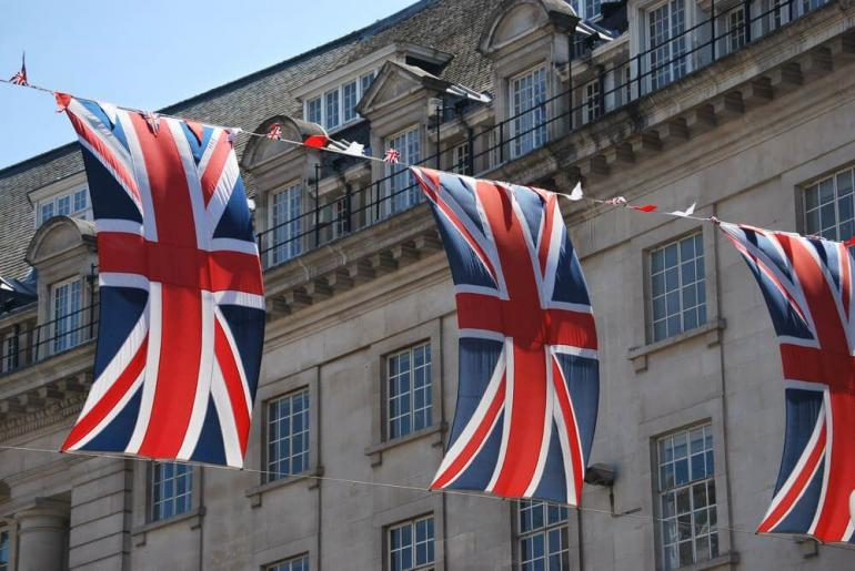 Bendera Inggris, Sumber Gambar: shutterstock.com/alexandraking