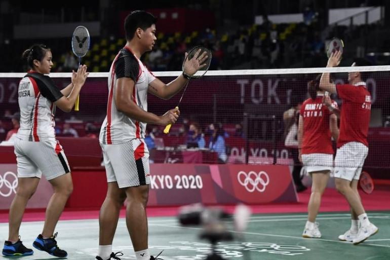 Ganda campuran Indonesia, Praveen Jordan/Melati Daeva kalah di perempat final Olimpiade 2020, Rabu (28/7)/ Foto: ANTARA/Sigid Kurniaw