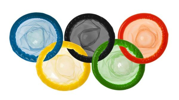 Ilustrasi logo (kondom) Olimpiade. | GQIndia.com
