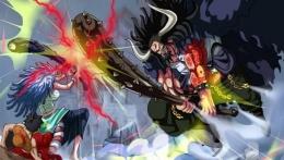 Yamato vs Kaido di manga One Piece chapter 1020. (Sumber: otakukart.com)