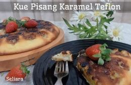 Ilustrasi Kue Pisang Karamel Teflon | Dokpri