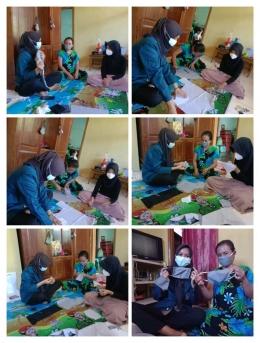 Proses Pelatihan Pembuatan Masker/Dokpri