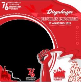 Kemerdekaan indonesia ke-76/olahan dari twibon
