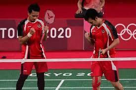 Hendra/Ahsan ke semifinal Olimpiade Tokyo 2020 (medcom.id)