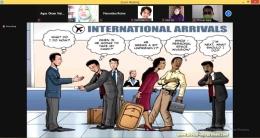 gambar di atas adalah gambaran apabila para profesional di bidangnya tidak menguasai Bahasa Inggris sebagai bahasa internasional, yang terjadi miskomunikasi. Gambaran pentingnya belajar Bahasa Inggris. sumber: dokpri
