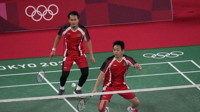 Penampilan impresif Mohamad Ahsan dan Hendra Setiawan di perempat final Olimpiade Tokyo 2020 (AP/ sport.detik.com)