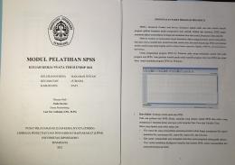 Modul Pelatihan Pengolahan Data Menggunakan SPSS/Dokpri