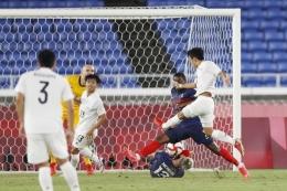 Jepang melawan Prancis di Olimpiade 2020. (via kyodonews.net)