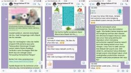 Pembagian video dan leaflet, serta sesi tanya jawab melalui whatsapp (dokpri)