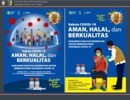 Media Poster Edukasi Vaksinasi Covid-19/Dokpri