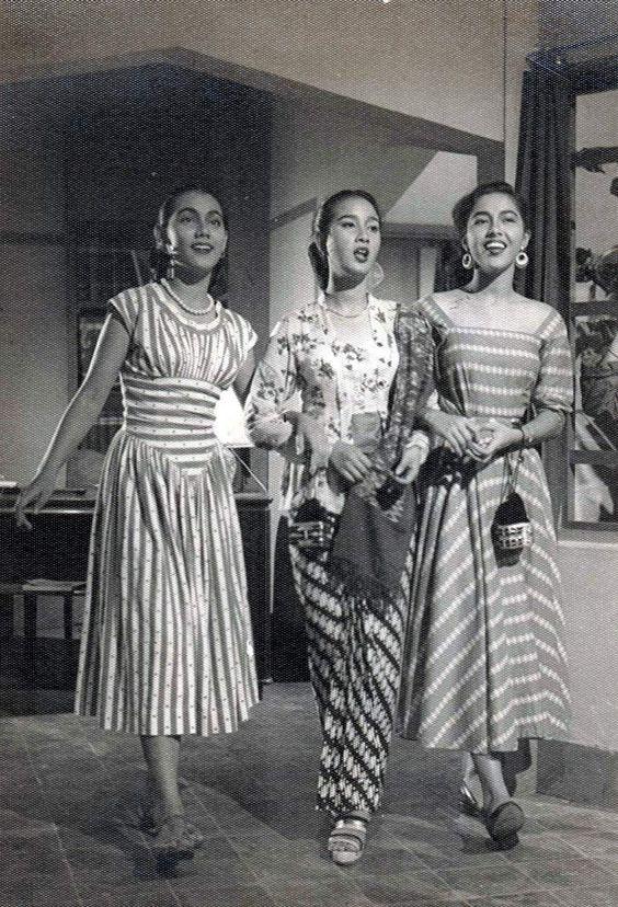 Cuplikan gambar 3 pemeran wanita dalam Film 3 Dara 1956, kompas.com